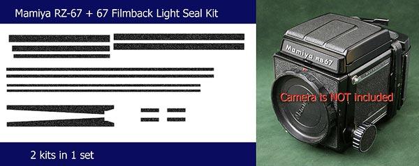 Mamiya RB-67 camera body + 120 Filmback's Light Seals